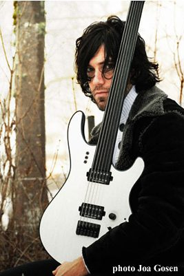 Daniel Gildenlöw with Mayones guitar, photo: Joa Gosen