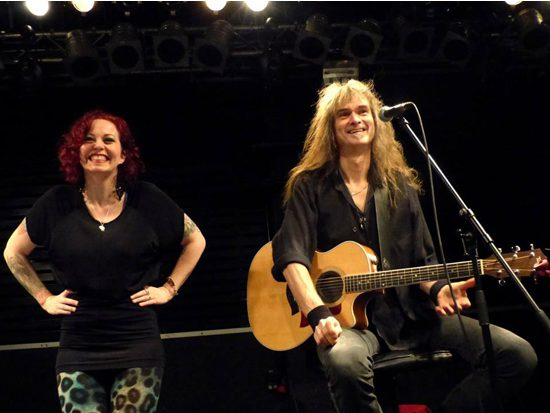 Anneke van Giersbergen and Arjen Lucassen, photo by Phil Vossen